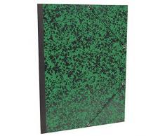 Clairefontaine Annonay Art Carpeta con elástico, Verde, B4, 28x 38cm