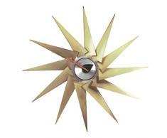 Vitra 201 255 01 - Reloj de pared (latón y aluminio, diámetro de 76,5 cm), diseño de turbina, color dorado y plateado