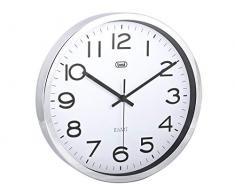 Trevi OM3318 - Reloj de pared (Plata, 30 cm, 470 x 60 x 370 mm)