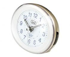 Trevi SL 3052 Quartz table clock Ovalado Oro, Color blanco - relojes de mesa (Analógico, Azul, AA)