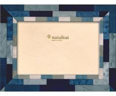 Natalini MIRA BLU B A 13 x 18 Marco de Fotos de Cristal y Madera, 23 x 18 x 1,5 cm