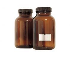 Viva Haushaltswaren–25frascos 1000ml./5Botellas Vasos Farmacia en marrón Cristal, Incluye Etiquetas