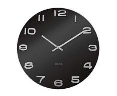 Karlsson Vintage - Reloj de pared, caja de color negro