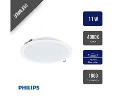 Philips BY120P iluminación de techo Blanco LED - Lámpara (Blanco, Dormitorio, Pasillo, Alrededor, Empotrada, Alrededor, Aluminio)