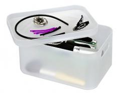 Wenko 21003100 Ice Cube - Caja de almacenaje para baño (tamaño grande), color blanco