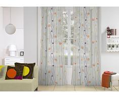 Rioma Cordon 03 - Cortina visillo con ollados, 140 x 270 cm