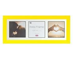Inov8 21 x 20,32 cm Insta-Frame Marco para Instagram 3/de estampado a cuadros de fotos con paspartú blanco y negro con borde, 2 unidades, amarillo