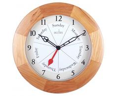 Acctim 24671 Polima Reloj de pared, color madera