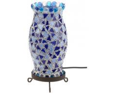 Näve 325105 - Lámpara de mesa de mosaico (27 cm), color azul