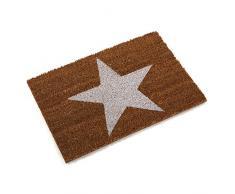 Versa Stars Felpudo, Fibra de Coco, Marrón, 60 x 40 x 2 cm