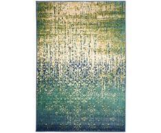 benuta Moderner Teppich für Wohn-und Schlafzimmer Alfombra, Fibra sintética, Turquesa, 100 x 150 cm