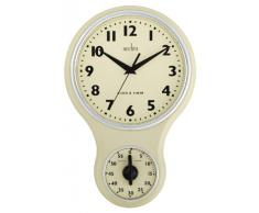 Acctim 21592 Kitchen Time Reloj de pared, color crema