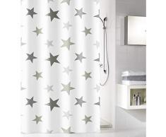 Meusch 2701977305 con estrellas cortina de ducha, 180 x 200 cm, Platin