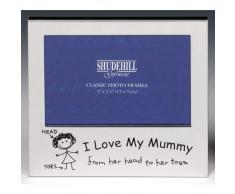 Shudehill Giftware I Love My Mummy Marco de Fotos Navidad, cumpleaños, día de la Madre Regalo Presente