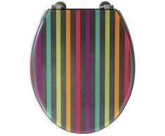 Gelco Design 707618 - Tapa para WC de resina, diseño de rayas