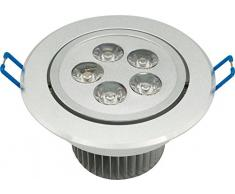 Garza 400737 - Downlight LED empotrable de alta potencia, 5 W