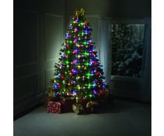BestofTv Tree Dazzler, como en la TV - Anillo para árbol de Navidad con 64 bombillas luminosas y mando a distancia, verde, 180 cm