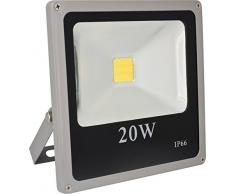 Garza Lighting - Foco proyector COB LED para uso exterior, potencia 20W, protección IP66, luz neutra 4000K