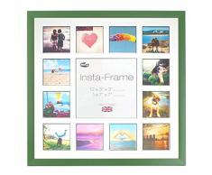 Inov8 16 x 40,64 cm Insta-Frame Marco para Instagram 13/de estampado a cuadros de fotos con paspartú blanco y negro con borde, verde