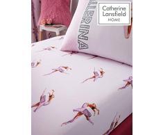 Catherine Lansfield bailarina doble sábana bajera ajustable, color rosa