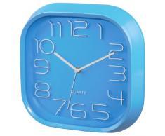 Hama PG-280 Quartz wall clock Plaza Azul - Reloj de pared (AA, Azul, De plástico, Vidrio, 280 mm, 46 mm)
