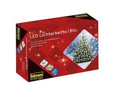 Idena 8325058 - Guirnalda LED de 16 m para interiores y exteriores, luz color blanco cálido