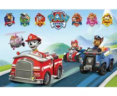 empireposter 715210 Paw Patrol – Vehicles Vehículos – Animales Niños Televisión TV Serie Impresión Póster, Papel, Multicolor, 91,5 x 61 x 0,14 cm