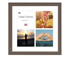 Inov8 16 x 40,64 cm Insta-Frame Austen marco para Instagram 4/de estampado a cuadros de fotos con paspartú blanco y blanco con borde, 2 unidades, Mid gris