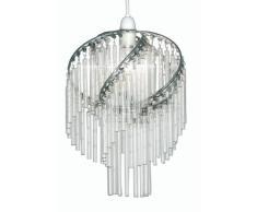 Oaks Lighting Dara - Lámpara de techo con cristales, color cromado y transparente
