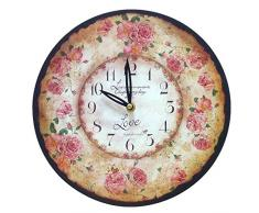 Better & Best 2671080 - Reloj de pared con aro con dibujo flores