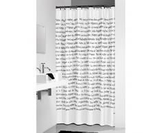 Sealskin Cortina de Ducha Sayings, 180 x 200 cm, PEVA Plástico, Blanco y Negro