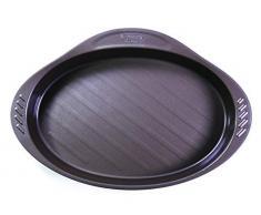 Pyrex Fuente Oval 35X23Cm Asimetria, Acero, Negro, 2.31 cm