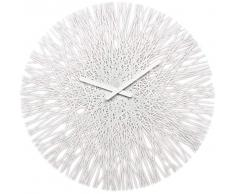 Koziol - Reloj de pared silk, color blanco