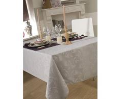 Mantel damassee ombra gris perla 150 x 250