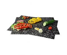 Xavax 00111516 Vidrio templado Negro tabla de cocina para cortar - Tabla de cortar (Vidrio templado, Negro, 400 mm, 520 mm, 12 mm, 2 pieza(s))