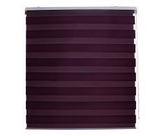 Blindecor Lira Estor Enrollable Doble Tejido Noche Y Día, Violeta, 120 x 180 cm