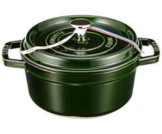 STAUB Cocotte Redonda, Hierro Fundido, Verde basilisco, 22 cm