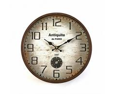Versa 21110007 - Reloj de pared, 30 cm, color marrón