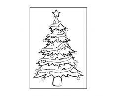 Darice Carpeta de estampación Plantilla de árbol de Navidad, Plastic, 10.8 x 14.6 cm