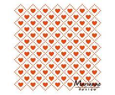 Marianne Design Troquel, diseño de diseño carpeta: Sparkles, transparente, Transparente, 12.3 x 12.3 x 0.4 cm