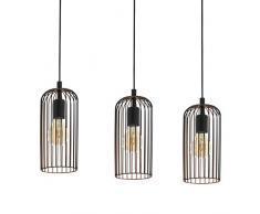 EGLO ROCCAMENA lámpara colgante, 60 W, Schwarz, Kupfer