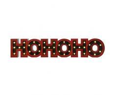 WeRChristmas Pre-Lit LED decoración de Navidad Ho Ho Ho señal, lana, rojo, 76 cm, grande