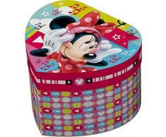 Star Licensing Disney Minnie Mouse Estuche Joyero corazón, cartón,, 12.5 x 11.5 x 8.5 cm
