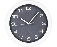 BUVU ZH09833-9U Reloj de Pared, Gris, 28 x 28 x 4 cm