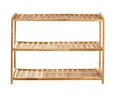 Premier Housewares - Zapatero con 3 estantes (55 x 79 x 26 cm), color madera