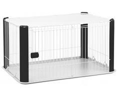 Iris Ohyama, parque para el perro / externa jaula / recinto / perrera - Pet Circle - CLS-1130, epoxy, negro, 9,2 kg 78,8 x 113 x 60 cm
