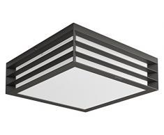Philips Lighting myGarden MoonshinE Aplique y/o plafón, iluminación exterior, resistente a la humedad y la intemperie, IP44, casquillo E27, antracita