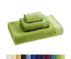 Eiffel Textile CR0053 - Set de 3 toallas ( toalla tocador 30x50, toalla de baño 50x70 y toalla de ducha 70x140 cm), color Verde
