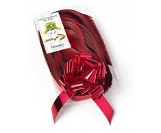 Brizzolari Cintas Copos rápidos Metalizados, 50 Unidades, 31 mm, decoración de Navidad, Color Rojo