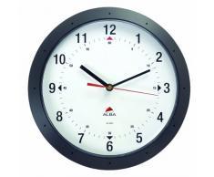 Alba Easy Time - Reloj de pared redondo (diámetro de 30 cm), color negro